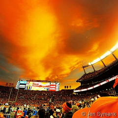 November 19, 2017 - An amazing view over the Broncos game. (Jen Symank)