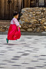speedy (Robert Borden) Tags: gyeongbokgung palace skip run play girl child dress color red seoul southkorea asia canon canonseoul canonphotos fun holiday tradition oldschool