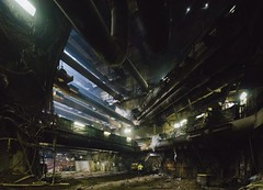 At the Heart of it All, 100ft Below (Peter Alfred Hess) Tags: sanfrancisco subterranean underground chinatown sfmta construction cavern structure steel excavation transit architecture metro subway station