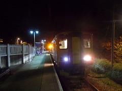 150216 Gunnislake (Marky7890) Tags: gwr 150216 class150 sprinter 2g78 gunnislake railway cornwall tamarvalleyline train night
