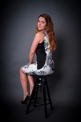 Looking back (exposurecompensation) Tags: hot derrière posterior elegant enigmatic legs curves sitting seated dress magnificent amazing awesome studio stunning beautiful sexy gorgeous stool woman