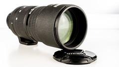 nikkor 80mm - 200mm f2.8 (grahamrobb888) Tags: longlens afnikkor80200mm128ed speedlight sb700 studiolights whitebackground shiny shadows shinyblack wellused