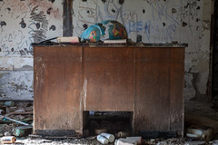 Earth Shattering (jessemgoldman) Tags: detroit school abandoned forgotten urbex city urban elementary institution education decay disintegrate