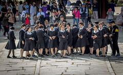 and I thought they were nuns... (Robert Borden) Tags: women classmates nuns oldfriends smiles seoul southkorea photographer gyeongbokgungpalace canonphotos canonrebel canonphotographer