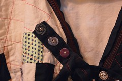 (Danny W. Mansmith) Tags: handmadeclothing jacket secondsaturdaysmtbakerartlofts fiberart wearableart oneofakind improvisational patchwork sewing drawingwiththesewingmachine shellbuttons cotton lined linen fabric pockets irregularshapes dannymansmith art hope seattle december9th 2017