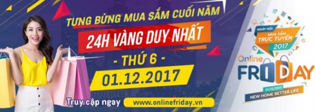 Online Friday tưng bừng khuyến mãi dịp cuối năm