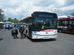 Bus at Pardubice 65th trolleybus anniversary (johnzebedee) Tags: bus motorbus transport publictransport pardubice depot czechrepublic johnzebedee skoda