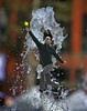 Make The Catch (swong95765) Tags: guy man jump catch water fountain bokeh stunt