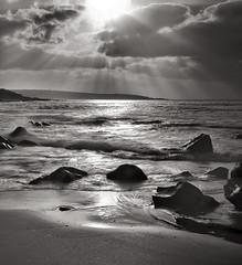 Midday Dunsborough 73 (Matt OZW) Tags: blackwhite deancooper monochrome rocks seascape westernaustralia coast lightrays sun workshop