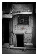 Door, window, step (posterboy2007) Tags: kathmandu nepal street door window step architecture house home monochrome bw sony