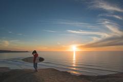 Beach Sunset (Blu3ness) Tags: landscape portrait california sandiego sony canon l 1740mm a7r2 a7rii sunset surfer lajolla