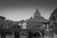 Way to Rome (ulidolz) Tags: eos5dmarkiv canon architektur architecture kirche dome church blackwhite schwarzweis stpeter'sbasilica petersdom pope papst rom rome