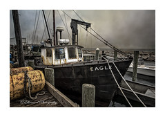 The Eagle Has Landed (windshadow2) Tags: boat boats rope wharf fishing pier lobster sakonnetpoint