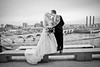 Overlooking the Mississippi River in Minneapolis, MN (Camelot Photography Minnesota) Tags: weddings wedding weddingphotography weddingphotographer bride best building blackandwhite love landscape kiss groom great mn minneapolis minnesota married amazing awesome architecture veil