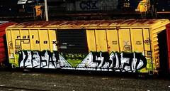 ilegal skuad (timetomakethepasta) Tags: ilegal skuad ilsk freight train graffiti art rail box boxcar benching selkirk new york
