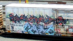 (timetomakethepasta) Tags: freight train graffiti art armn reefer union pacific benching selkirk new york