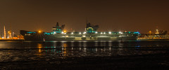 Queen Elizebeth Aircraft carrier at low tide (harryemery) Tags: queenelizabethaircraftcarrier seascape cold night nikkorais105mm manfrotto nikon hampshire gosport