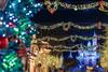 A Very Merry Disneyland Christmas (orlandobrothas) Tags: christmastree garland sleepingbeautycastle disneylandpark mainstreetusa night nikond500 nikkor california anaheim