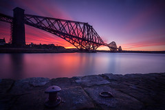 A New Day (Fading Dusk Photography) Tags: edinburgh uk scotland kyoshimasamune firthofforth forth forthrailwaybridge longexposure zomeind1000 nd1000 cokinfilters cokinnd8 sunrise winter ultrawideangle wideangle bridge clouds cloudscape northqueensferry southqueensferry fife kingdomoffife lothian