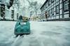 Driving home for christmas I (Thomas Junior Fotografie) Tags: westerholt herten ruhrgebiet heimat schnee snow kalt winter weis white blanc light licht lumiere car auto street strase sony scenery miniature modellauto
