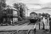 37059 Thuxton 26/10/17 - An almost timeless scene is captured at Thuxton on the Mid Norfolk Railway. 37059 rolls past the beautifully restored signalbox and station surroundings. (rhayward92) Tags: 37059 drs direct rail services rhtt head treatment train thuxton mnr mid norfolk railway class 37