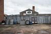 Great Yarmouth (Number Johnny 5) Tags: tamron dumpster nikon decay wheelie door skip blue urban great banal yarmouth grey mundane bin corrugated d750 sign 2470mm iron metal
