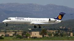 D-ACPO Lufthansa CityLine Canadair Regional Jet 700 at Palma on 9 May 2004 (Zone 49 Photography) Tags: 2004 700 crj700 aircraft airliner aviation cl clh crj canadair cityline dacpo de jet lepa lufthansa majorca mallorca may pmi palma plane regional