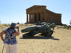 Looking at you (grannie annie taggs) Tags: tourist temple sicily agrigento unesco