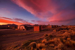 sunset in Sajama (yan08865) Tags: sky sunset sajama bolivia grass road train landscape nature outdoor earth andean south america uyuni salt depth travel adventure natural colors flow sunrise