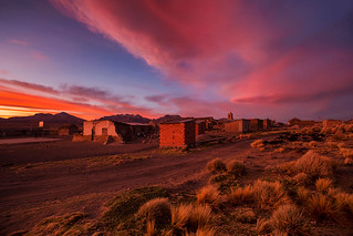 sunset in Sajama