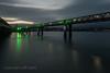 Cycle Bridge over the Plym K3__6128.jpg (screwdriver222) Tags: devon twilight river roadbridge pentax bridge k3 pedestrian lairabridge railbridge sigma1020mmf456exdc riverplym green lighting cyclepath dusk plymouth england unitedkingdom gb