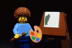 What a legend (RagingPhotography) Tags: lego bob ross minifigure minifig figure artist art painting paint picture calm soothing calming ease recreation cute funny legend painter ragingphotography