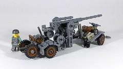 Flak 18 (v2) (main) (Rebla) Tags: lego ww2 rebla flak 18 88 canon anti tank gun wwii world war ii 2 german