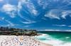 Glamarama (blentley) Tags: canon eos 5dmk3 5d3 panorama tamarama glamarama cirrus polariser ocean blue surf sydney beaches waves swell sun summer hot november