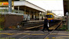 `2155 (roll the dice) Tags: london ealing w3 travel transport train platform rail tracks colour cold winter muslim smoking cigarette people crossing open natural islam streetphotography danger uk art classic urban england unaware unknown canon tourism tourists roundel spike slow stop acton overground angle view blur speed levelcrossing cctv nike tickets tfl churchfield fashion shopping mad sad fun funny surreal wall