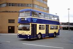 Pennine Blue 2276 (GHM 776N) (SelmerOrSelnec) Tags: pennineblue daimler fleetline crl6 mcw ghm776n dm 346 ashtonunderlyne warringtonstreet londontransport bus
