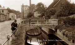 Fen Street, Nayland (footstepsphotos) Tags: fenstreet nayland suffolk fishing angling people old vintage postcard historic road past 1900
