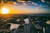 Sunset with a view (Maria Eklind) Tags: kitchentable skåne building skybar malmölive street öresundsbron sweden bridge sunset solnedgång city malmö skånelän sverige se