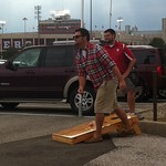 "Jim tailgating and playing corn hole at IU <a style=""margin-left:10px; font-size:0.8em;"" href=""http://www.flickr.com/photos/124699639@N08/37515685194/"" target=""_blank"">@flickr</a>"