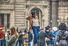 posing at the Louvre (albyn.davis) Tags: paris france europe people street louvre posing pose activity urban city color colors winter