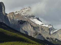 Start of the storm (annkelliott) Tags: alberta canada kananaskis kcountry rockymountains canadianrockies abovecanmore nature scenery landscape mountain peak mountainslope mountainside rock treeline forest tree trees snow sky clouds storm outdoor fall autumn 17october2017 fz200 fz2004 panasonic lumix annkelliott anneelliott ©anneelliott2017 ©allrightsreserved