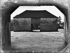 Monocacy NB ~ Best Farm (karma (Karen)) Tags: monocacynb maryland frederickco civilwar usparks farms bestfarm barns monochrome bw picmonkey hss nrhp cmwd topf25