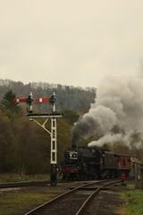 Levishan (feroequineologist) Tags: 44806 black5 lms northyorkshiremoorsrailway nymr train railway steam levishamstation levisham
