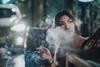 WeiWei (Randy Wei) Tags: smoke backlight carlight cigarette mitakon zhongyi speedmaster fujifilm nightshot ximen ximending 西門町 taipei taiwan graffiti smile piercing young girl outdoors 西門靖