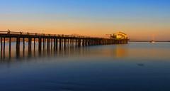 SunSET (shishirmishra1) Tags: sunset beautiful scenic water pillars blue
