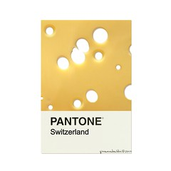 switzerland (brescia, italy) (bloodybee) Tags: pantone cards colors match colormatch cheese emmentaler emmental emmenthal hole food switzerland yellow stilllife humor fun square