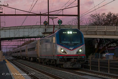 AMTK ACS-64 #609 @ Levittown, PA (Darryl Rule's Photography) Tags: 1063 2017 acs64 amtrak buckscounty citiessprinter commuter dusk extra51 fall levittown marc northeastcorridor november pa pc prr penncentral pennsy pennsylvania railroad railroads septa station sunset thanksgivingspecial train trains westbound