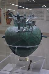 Rome, Italy - Villa Giulia (Etruscan Museum) - Bronze Vessel (jrozwado) Tags: europe italy italia rome roma villagiulia museum archaeology etruscan bronze bronzework