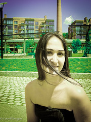 The disarming perspective. (CornellBurgessphotography) Tags: pretty woman long hair iranian streetphotography portrait