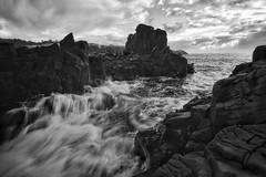 Bombo Quarry (Bill Thoo) Tags: waves bombo nsw australia bomboquarry newsouthwales southcoast quarry rocks ocean movement splash basalt basaltcolumn landscape scenic travel monochrome bnw blackandwhite morning sony a7rii ilce7rm2 zeiss batis 18mm
